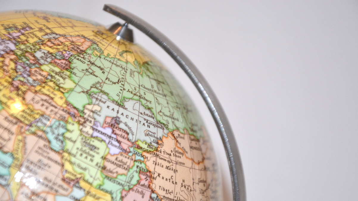 Weltreise-Logbuch-Globus